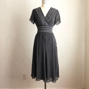 Adrianna papell dress fit and flared polka dot 8